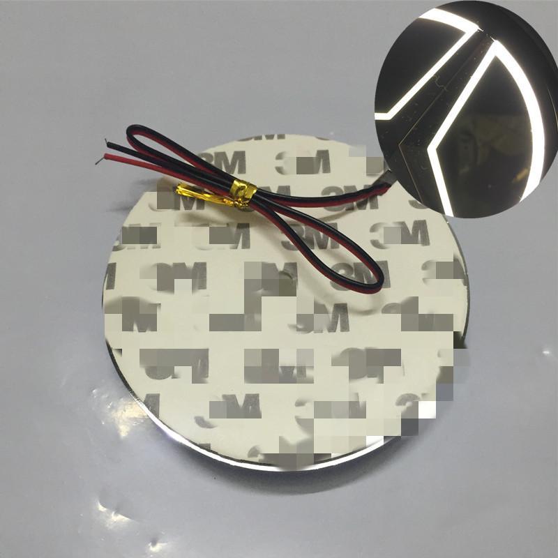 87mm 5D Otomobil için LED Logo Işık Beyaz Kırmızı Mavi Oto Amblemi Ampul Arka Şekillendirme Rozet Lambası