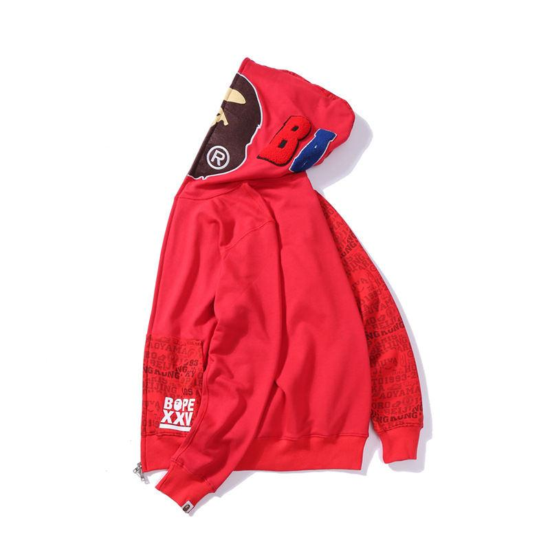 Mens Designer Hoodie Hip Hop Brand Zipper Jacket Hoodie Cotton Blend Streetwear Luxury Sweater Men Fashion Style Head Lice Print Coat