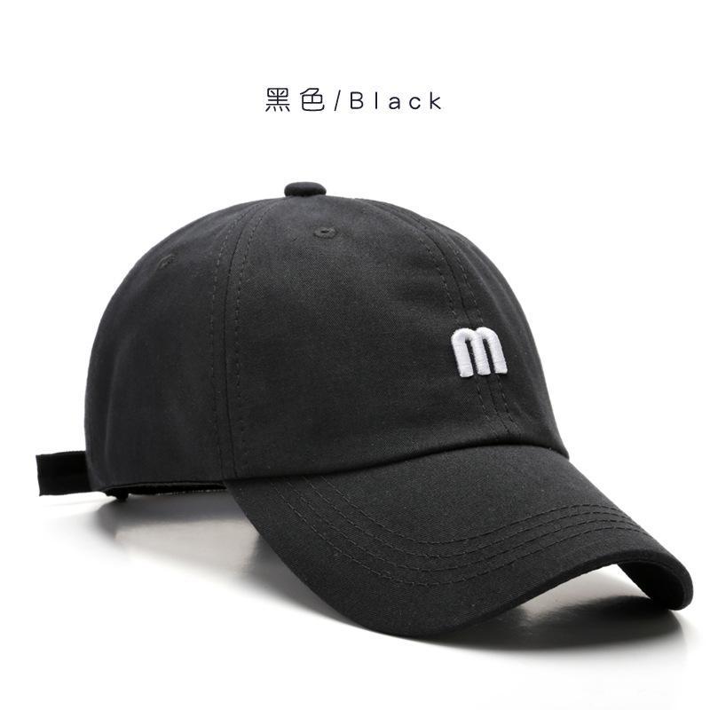 Men Baseball Caps Summer Unisex Solid Color Sun Visor Hip-Hop Cap Hat Women Adjustable Cotton Caps