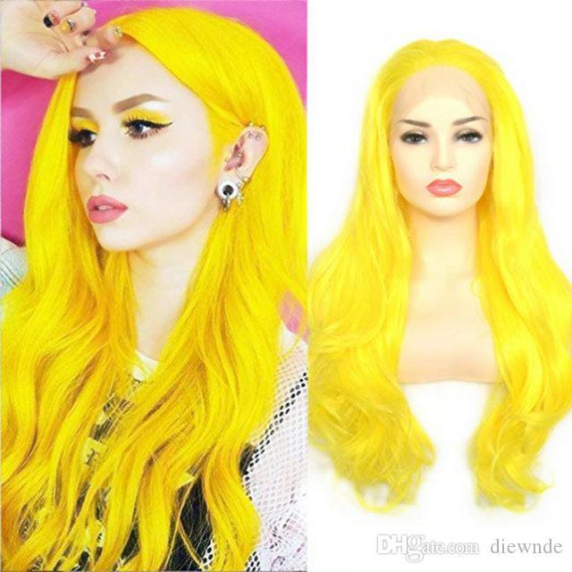 Синтетические кружевные передние парики длинные натуральные волнистые термостойкие волосы замена полный косплей парик для женщин (22 дюйма 153