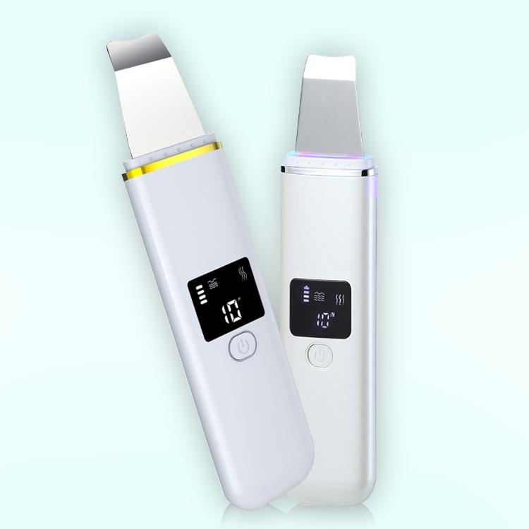 Ultrasons peau Scrubber Nettoyant Visage acné de point noir du visage Spa Vibration Suppression de massage par ultrasons Peeling Clean Machine