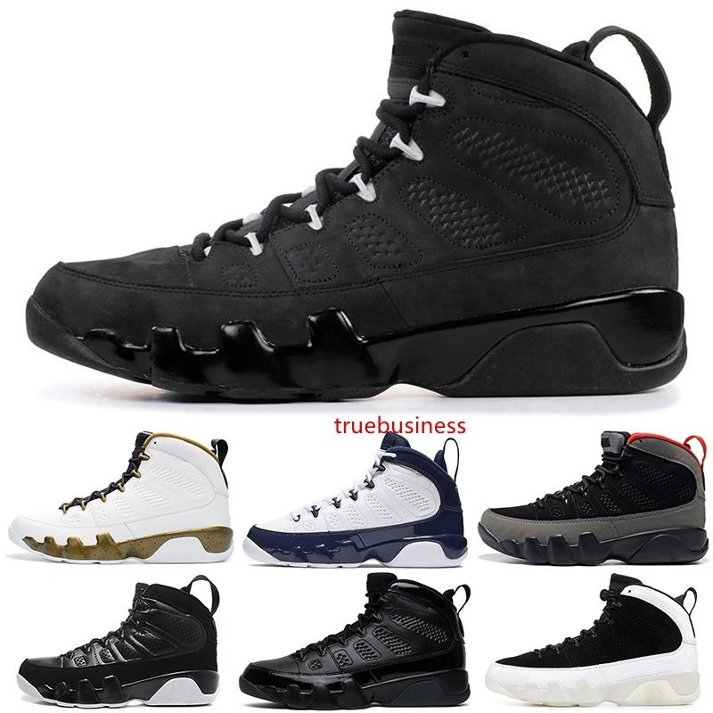 Nouveaux 9 9s Hommes Chaussures de basket Dream It Do It UNC Statue Anthracite Regon Canards LA Bred Entraîneur Sporta Sneakers 7-13