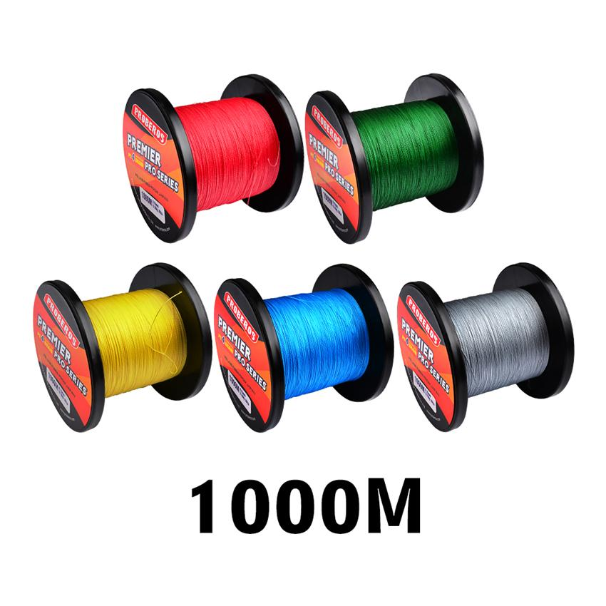 1000m 4 Strand Braided PE Fishing line casting lines Spool Beading String Lines 10lb~100lb Leave a message for color