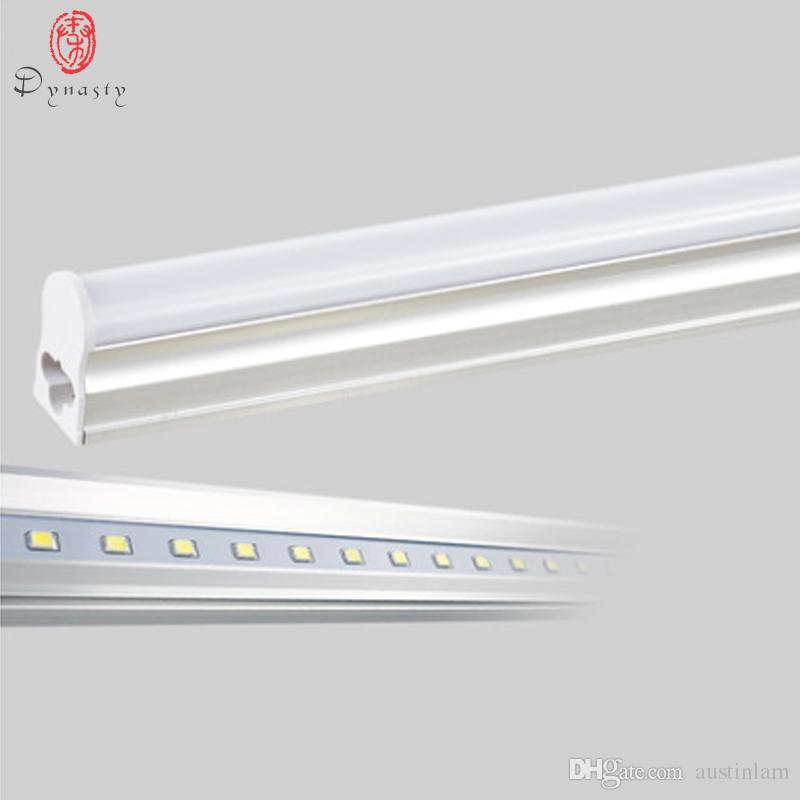 5Pcs/Lot LED T5 Tube Super Brightness Replace of Traditional Ballast Fluorescent Closet Kitchen 30CM 1Feet LED Fixture Dynasty Free Shipping