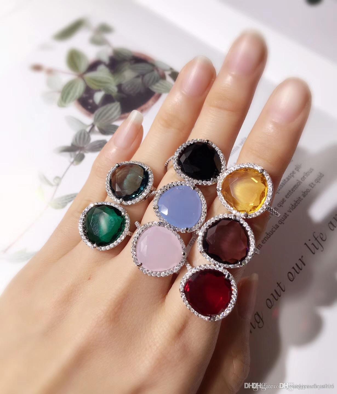 Pop Top Messing material paris Design ring mit Zirkon und Diamant schmücken Stempel logo Charme Platin ring für Frauen und Mutter Schmuck PS6411