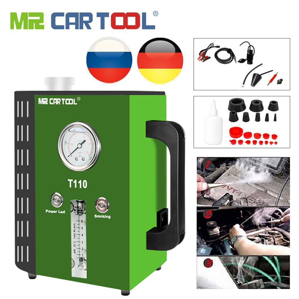 MR CARTOOL T110 Vehicle 12V DC Pipe Leakage Detector Smoke Maker EVAP System