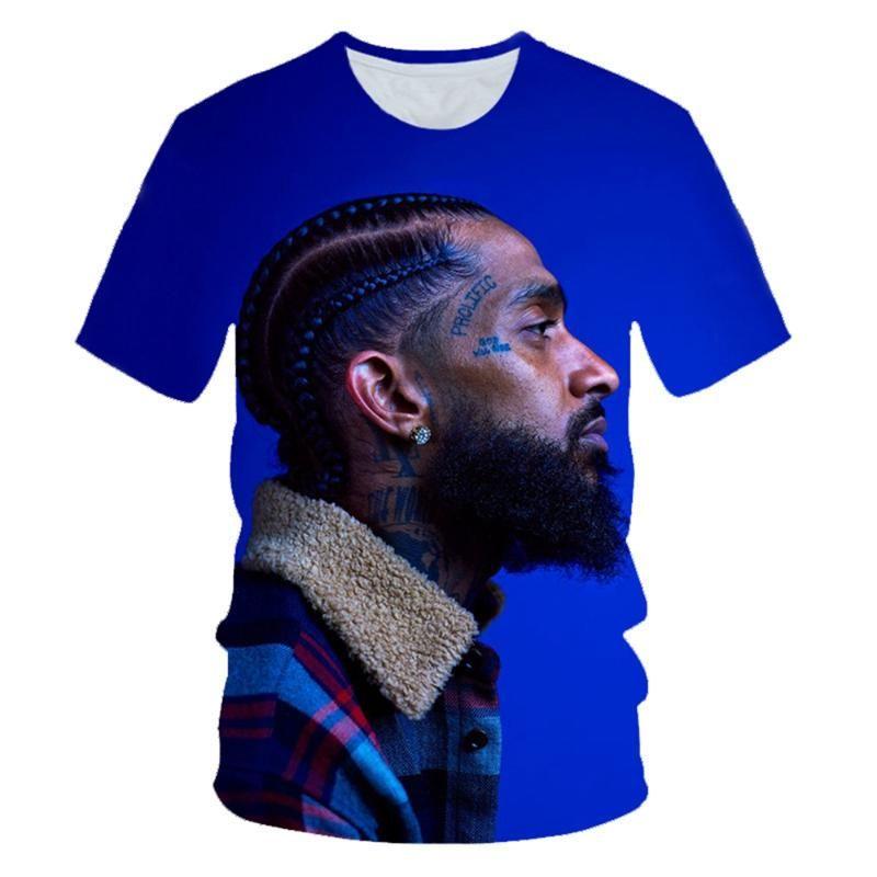 El rapero Nipsey Hussle 3D camiseta impresa de los hombres del verano de las mujeres Harajuku camiseta sobredimensionada camiseta de Hip hop Adolescente Tee de manga corta