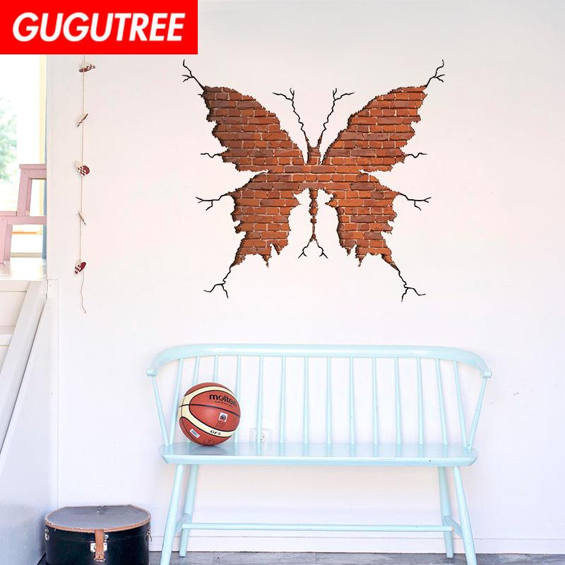 Decorate home 3D buttlefly cartoon art wall sticker decoration Decals mural painting Removable Decor Wallpaper G-950