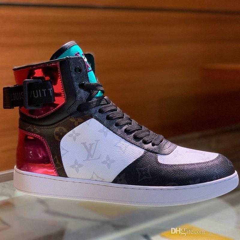 2019 المصممين الهواء القسري الرجال الاحذية MenSneakers 38-45 الأزياء الفاخرة والأحذية شقة المدربين عالية أعلى أزياء العلامة التجارية ذات جودة عالية
