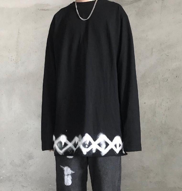 المتناثرة طويلة الرجال قميص من النوع الثقيل أكمام السترة الصيف قمصان الربيع رقيقة خليط اللون السببية طويل فضفاض HOMBRE روبا