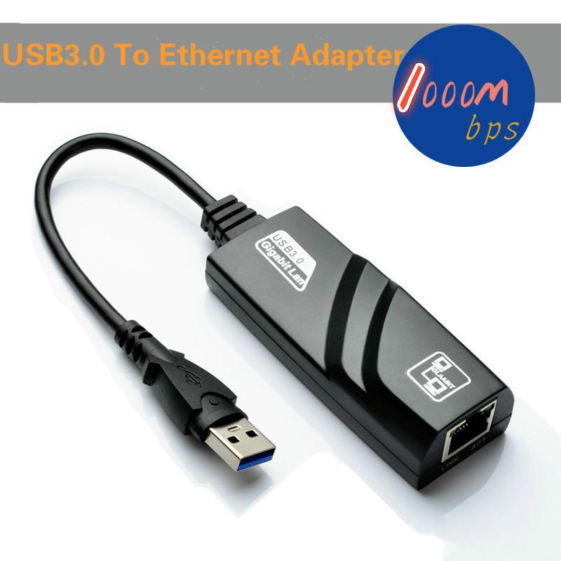 Горячие продажи USB 3.0 для Fast Ethernet LAN RJ45 Сетевой кабель Адаптер карты 28 см 10 Мбит / с или 100 Мбит / с Сеть для MAC Для Win7 Для ноутбуков 10 шт. / Уп