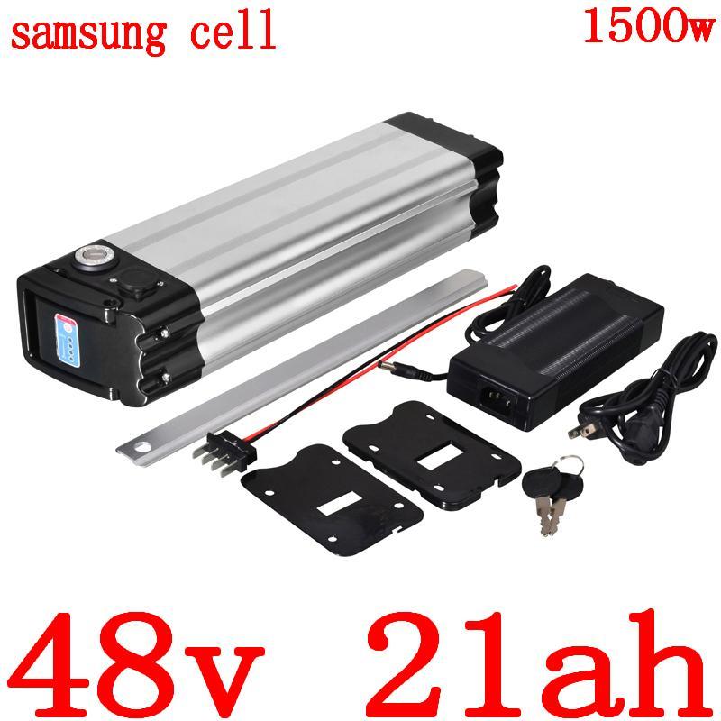 48V 1000W 1500W batería de 48V 20Ah bicicleta eléctrica Uso de la batería 10AH 14AH 17.5AH 18AH de litio 21AH celular Samsung
