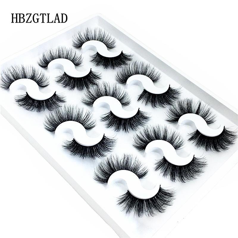 9 пар 3D Natural норковые Ресницы Оптовая Strip Silk Lashes Новые Макияж Наращивание ресниц Накладные ресницы для красоты