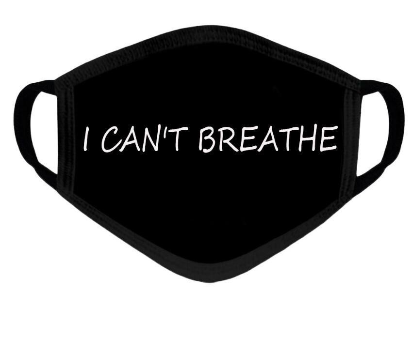 أنا لا أستطيع التنفس رسالة طباعة الوجه قناع إثبات قابل للغسل الوجه الفم الغلاف في الهواء الطلق إنكم جدا إغلاق الرعاية الصحية mascarillas دي إتش إل الحرة