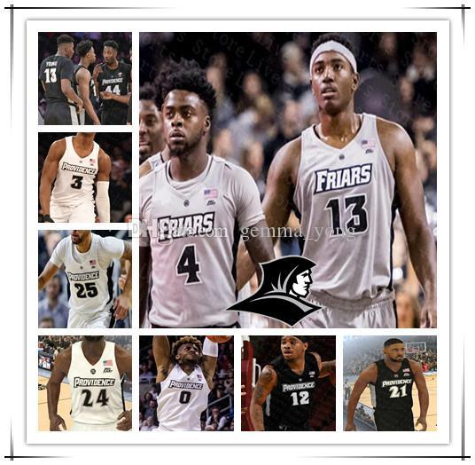 Custom Ncaa Basketball Providence Friars Jersey Alpha Diallo David Duke Luwane Pipkins Nate Watson Kalif Young A.J. Reeves Emmitt Holt 4XL