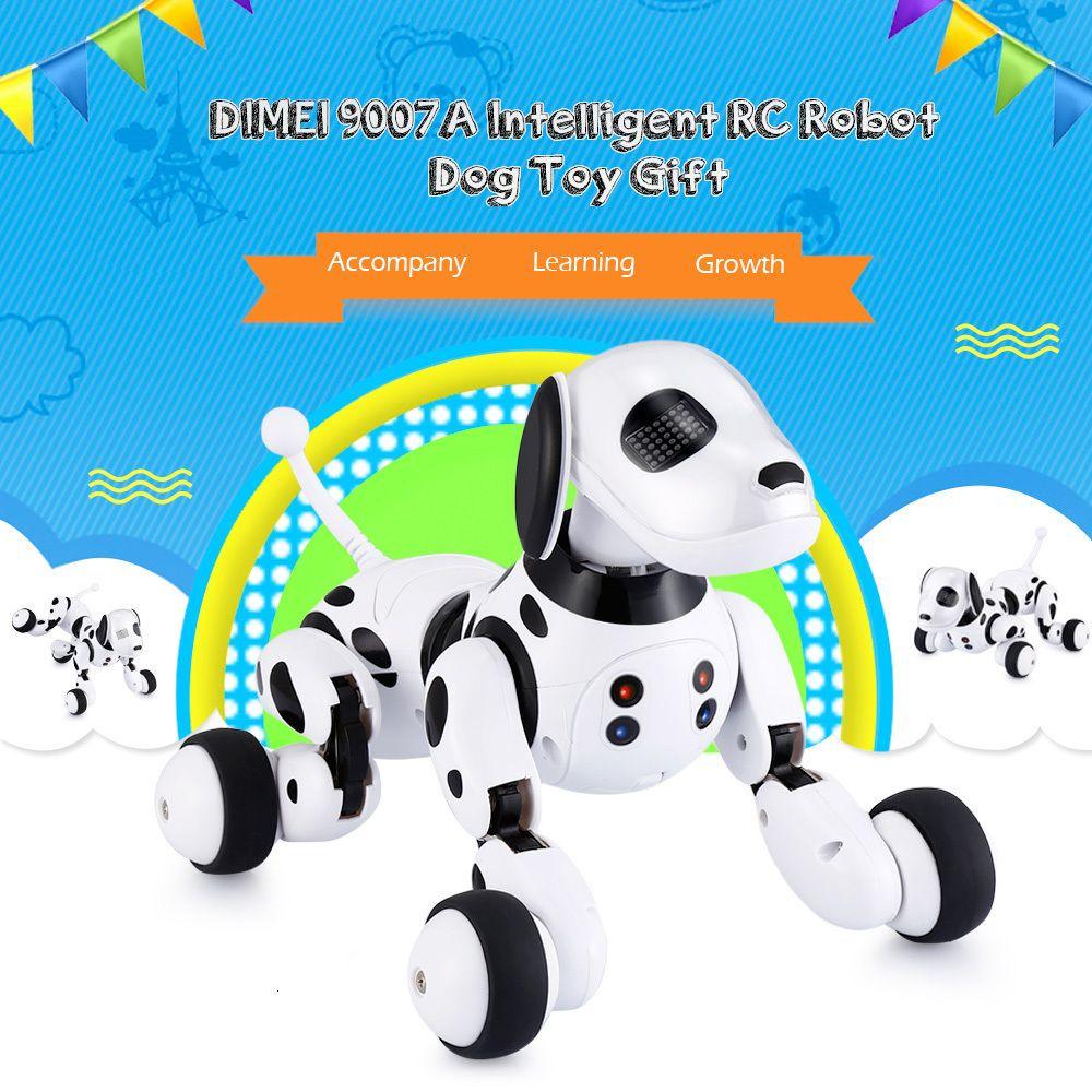 Bambini telecomando Dimei 9007A intelligente Robot Dog 2.4G Wireless Toy Parlare intelligente animale domestico elettronico del regalo di compleanno