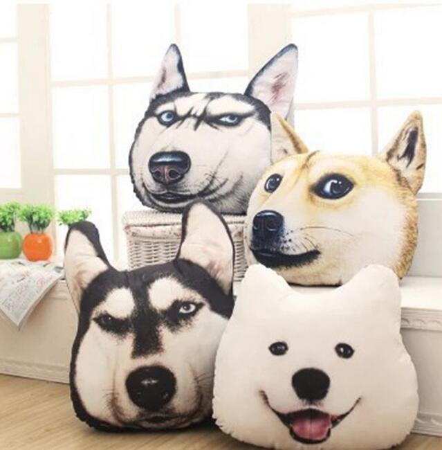 Новые горячие 3D 45cn самоед Husky Dog Плюшевые игрушки куклы чучело Подушка диван автомобилей Декоративные Креативный подарок на день рождения