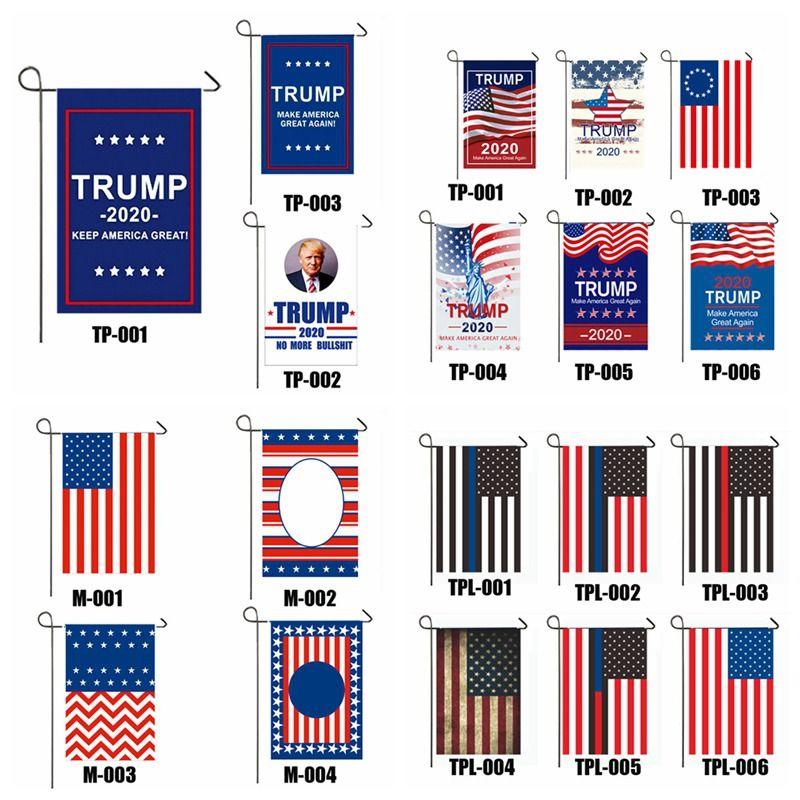 Präsident Donald Trump 2020 Flag halten zu lassen US Amerika Großer Einseitige US-Wahl Patriotic Außendekoration Banner Garten Flag VT1097