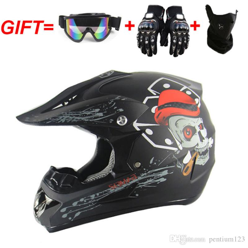 Motosiklet Off Road Dirt Bike Kask Motocross Yarış Kask Yokuş aşağı dağ kask yetişkin çocuk nokta için uygun