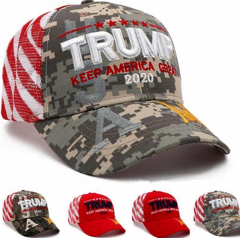 Trump Donald Trump chapéus de basebol Mantenha fazer América Grande Cap Snapback ajustável Hat exterior Desporto Camo malha chapéus de festa DHC340