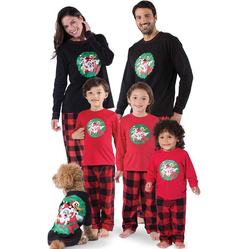Matching Natal da família Pijamas Set Mulheres bebê Crianças Pijamas Roupa de Noite