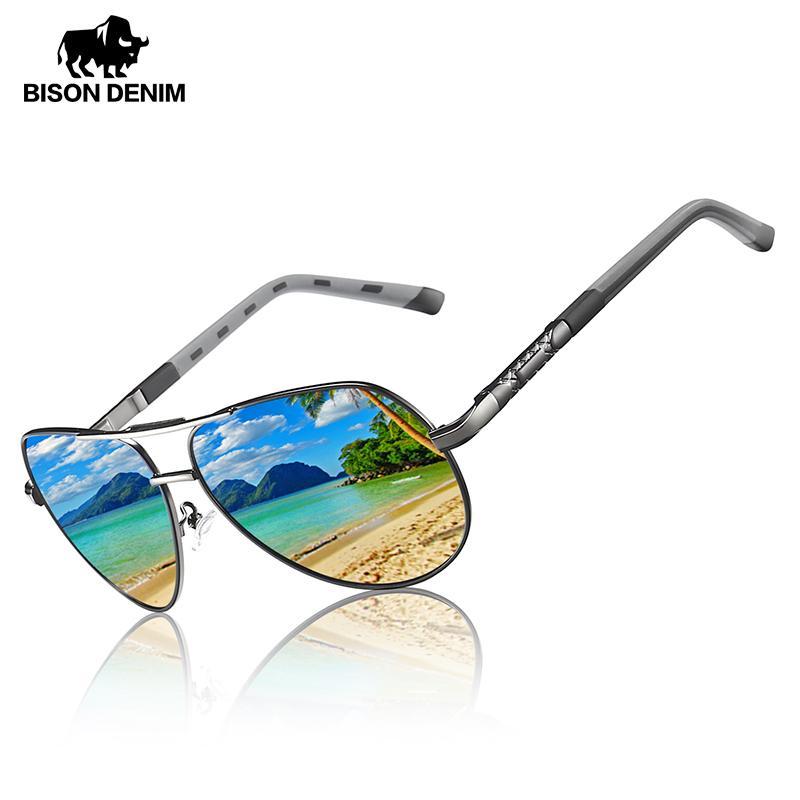 Модельер Мужчины Солнцезащитные очки поляризованные UV400 Зеркало сплав Frame Солнцезащитные очки лето весна очки для мужчин Y9548