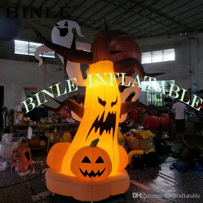 Halloween 2020 Inflating Pumpkin 2020 Outdoor LED Giant Inflatable Halloween Dead Tree With