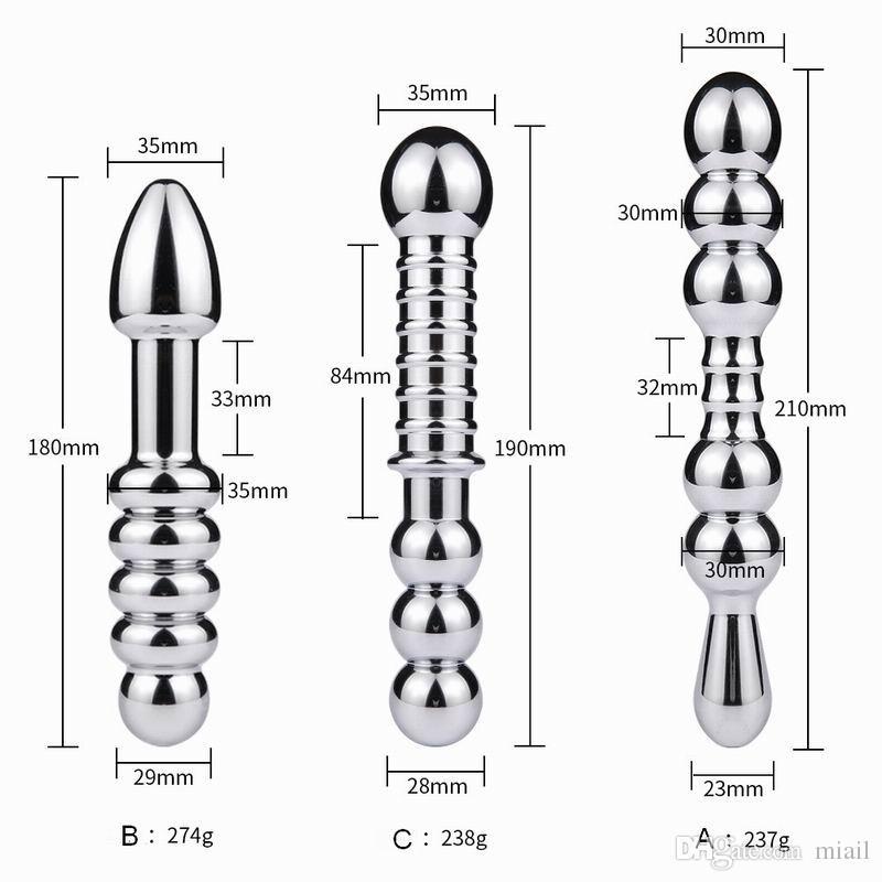 Мастурбация алюминиевые двойные металлические бусины женские анус штекер анальный взрослый возглавлял игрушечный вигина вигина дилататор приклада массаж простата продукты qrrja
