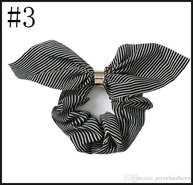Ücretsiz nakliye 24pcs Kadınlar Zarif inci Elastik Saç Bantları at kuyruğu Tutucu saç Scrunchies Tie Saç Rubber Band Headband fırfır