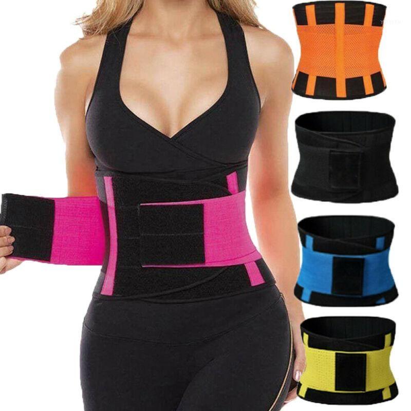 Más el tamaño de la cintura mejor entrenador para las mujeres sauna Sudor Termo Reductora debajo del corsé Yoga Deporte talladora de la correa de la cintura delgada de entrenamiento Support1