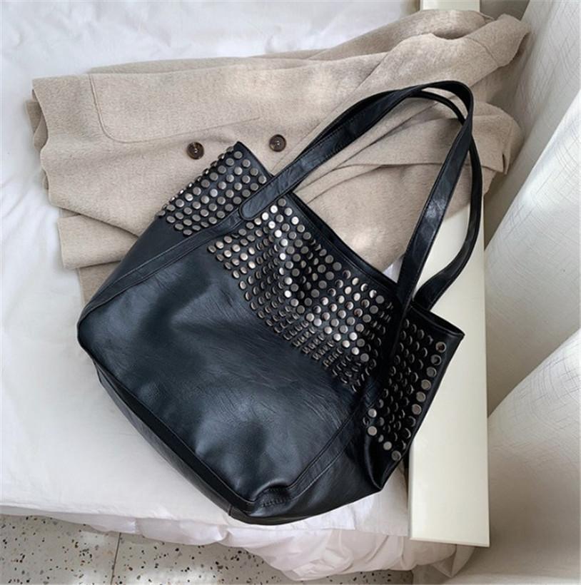 Remache de moda de gran capacidad Bolso de compras Señora de moda llevar grandes bolsa en un hombro PH-239 * CFY20041020