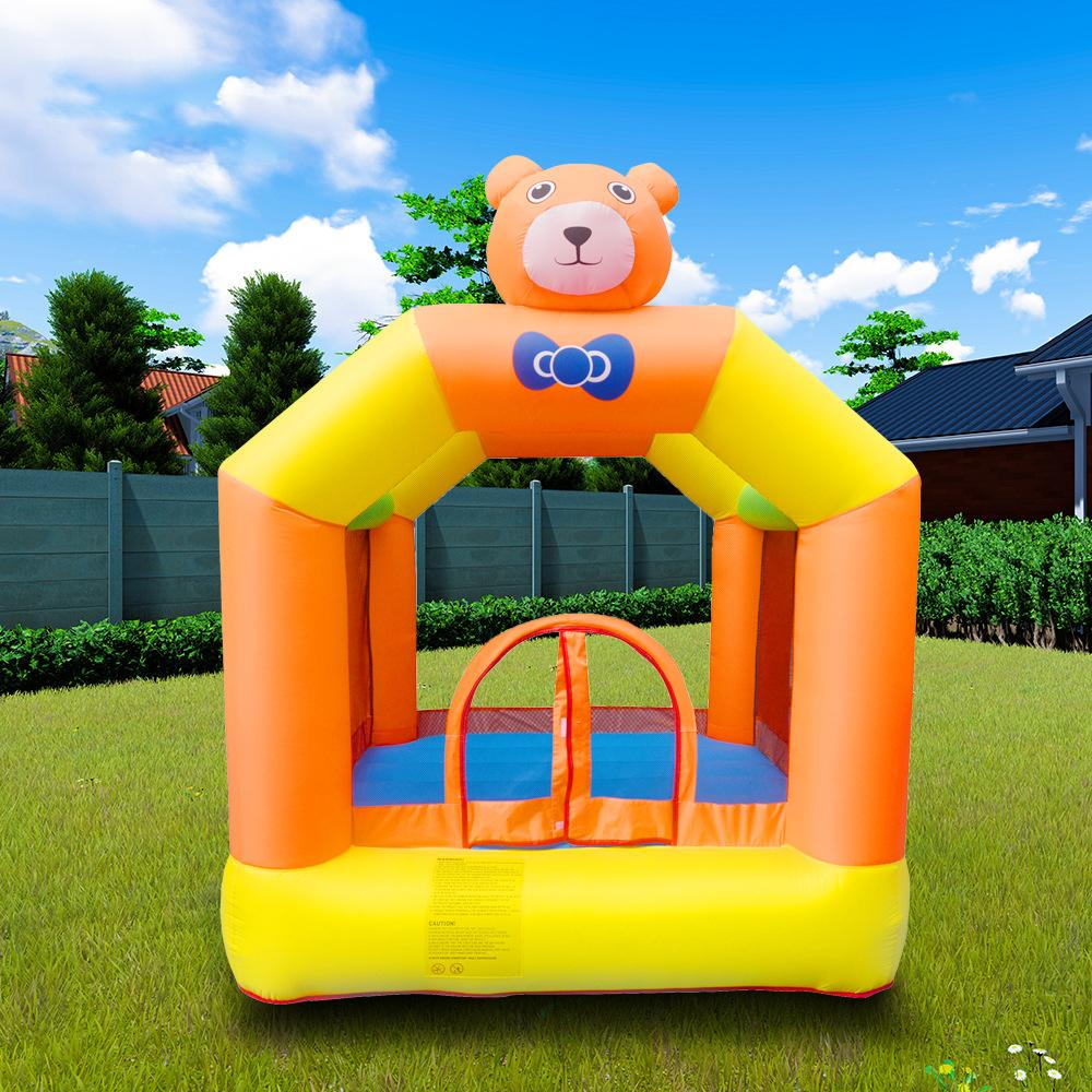 Commercial Trampoline Kids Jumping Trampoline Inflatable Bear Castle Home Party Event Cartoon Bear Castle for Kids Play Gerden Amusement