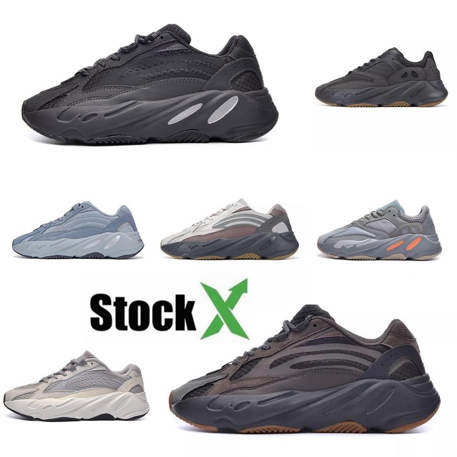 Kanye West 700 Wave Runner Running Shoes Inertia Salt Mens Womens 700S V2 Geode Static Sports Mauve Solid Grey Designers Sneakers Size#DSK536