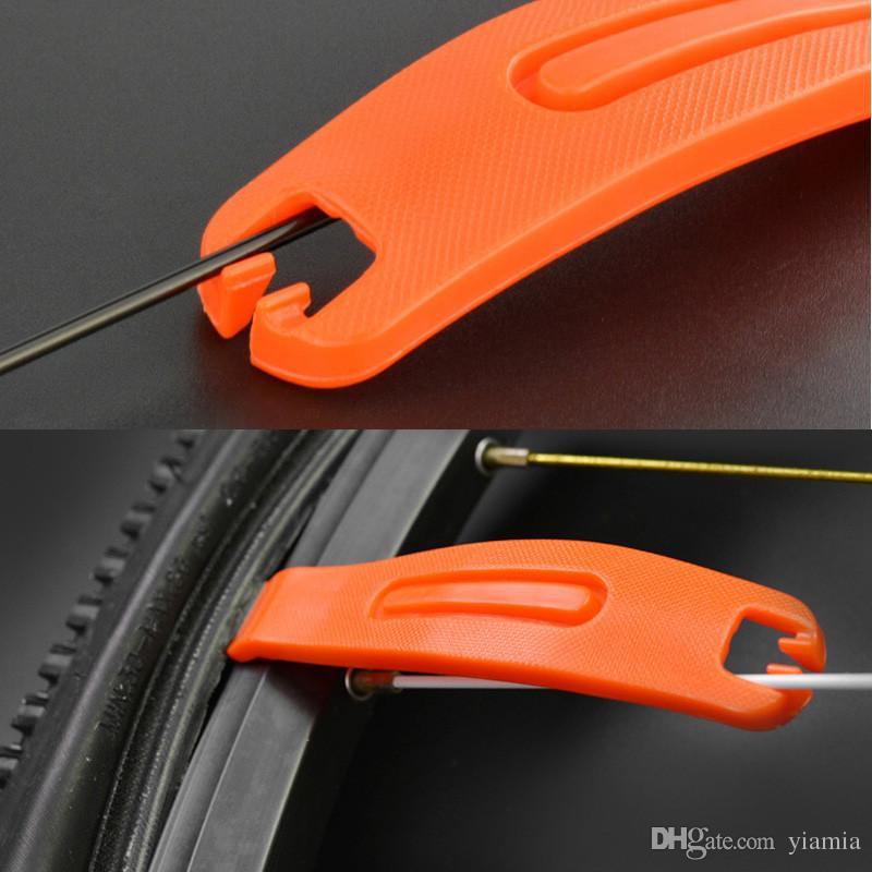 Laranja Cor de Plástico Bicicleta Kit de Ferramentas de Alavancas de Mudança de Tubo Multifuncional Kit de Ferramentas 1 pcs