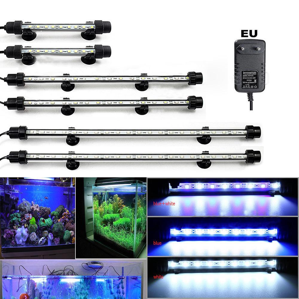 Top de acuario peces tanque de Luz LED RGB SMD Tira de Luz Azul Blanco Luces Lámpara De Barra