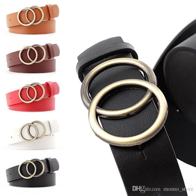 Jeans Women Belt Fashion Design Women Gold Buckle Waist Belts Leather Strap Cummerbund Waistband for Girl Dress big buckle belt