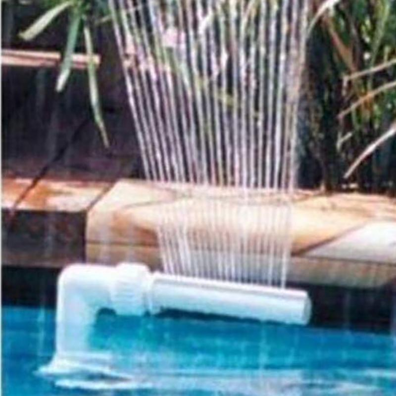Swimming Pool Waterfall Fountain Kit PVC Feature Water Spay Spa Decorations Swimming Garden Pool Accessories Fountain Tube Kit