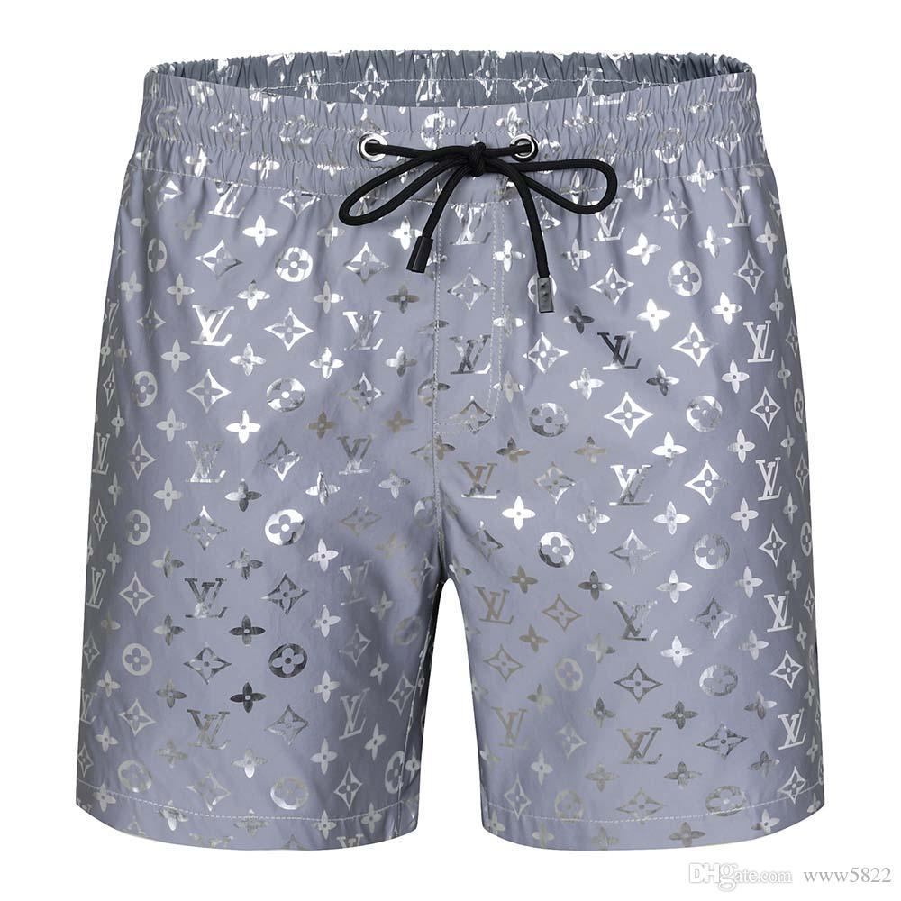 scheda scintillio di cristallo bicchierini del ricamo bicchierini della spiaggia l'estate pantaloni da uomo di alta qualità esplosione 2019-20120ss costumi da bagno alphab maschile Bermuda