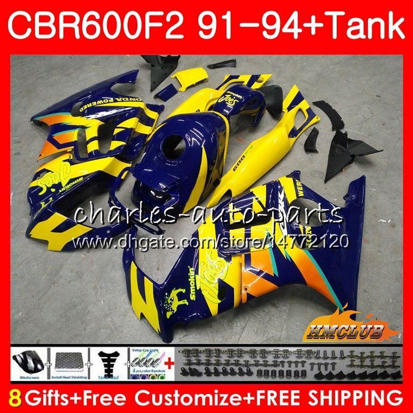 파랑 HONDA CBR 600F2 CBR FS 600 1,991 1,992 1,993 1,994 40HC.147 CBR600FS 600cc의 CBR600 F2 F2 CBR600F2 91 92 93 94 바람막이 바디 + 탱크