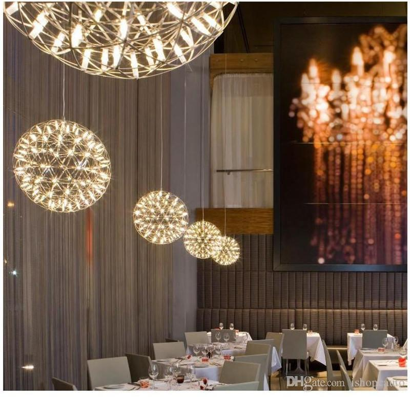 Nordic sparkle ball pendant lamp restaurant creative living room clothing store modern bedroom stairs smoke modern modern starry chandelier