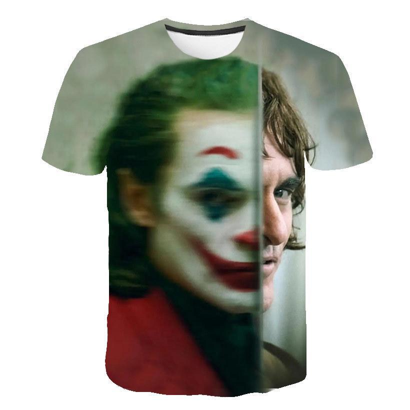 New Hot Sale Клоун T Shirt Мужчины / женщины Joker Face 3D печатных Террор Мода футболки Прохладный Character джокер Harajuku Одежда MX200509