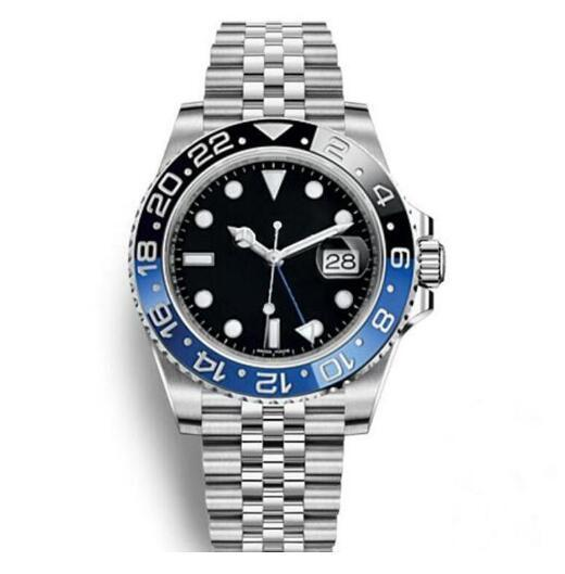 2019 GMT 세라믹 베젤 망 기계식 스테인레스 스틸 자동 운동 시계 Luxury Sports Self-wind Jubilee master Watches 손목 시계