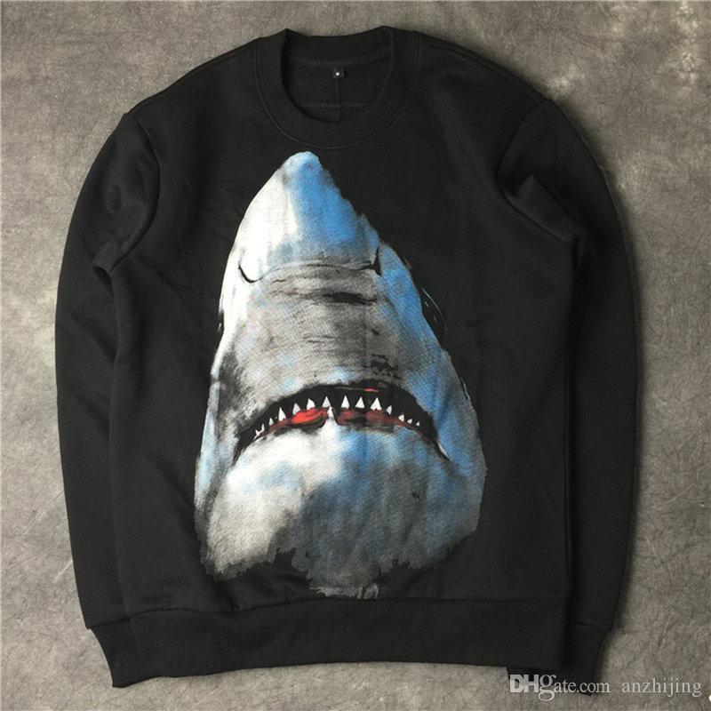 Diseñador de lujo Hoodie de moda tiburón impresión de alta calidad mujeres de los hombres sudaderas con capucha unisex diseñador sudaderas con capucha de manga larga