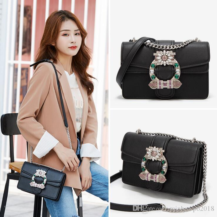 wholesale women handbag high-quality leather chain bags new double-layer clamshell leather shoulder bags exquisite diamond fashion bag