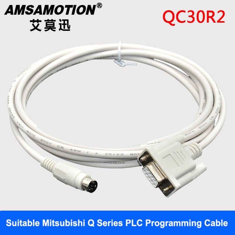 AMSAMOTION Serials Cable QC30R2 Suitable Mitsubishi Q Series PLC Programming Cable