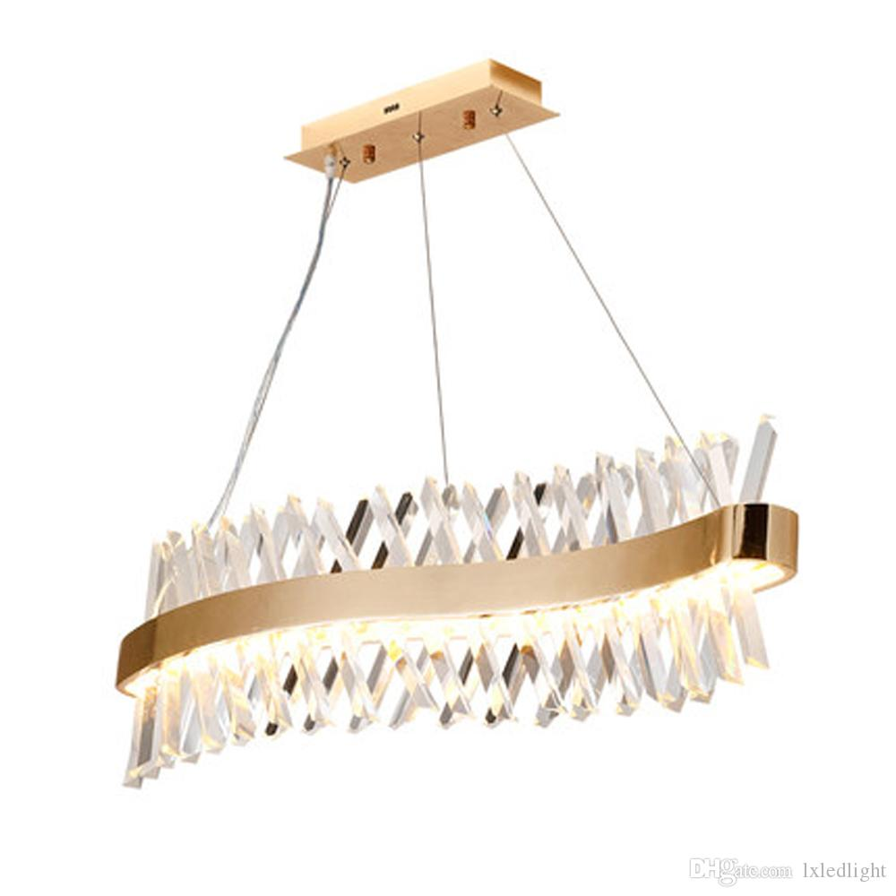 تصميم الموجات الطويلة من الثريا الكريستالية المصنوعة من مصباح lustre cristal kronleuchter home lighting bar light