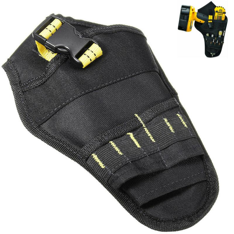 Heavy-Duty Cordless Drill Holster Tool Belt Pouch w/Bit Holder Multifunction Bag