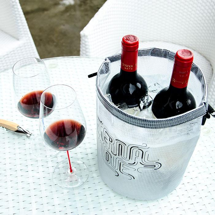 New style foldable smart ice bucket environmental protection portable ice wine barrel outdoor champagne wine bucket