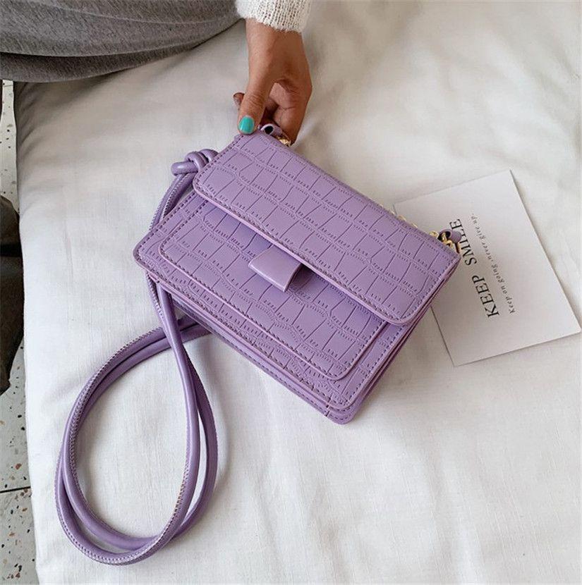 Новый Крокодил Версия для печати одного плеча Через моды Simple Small Square Bag PH-CFY20051945