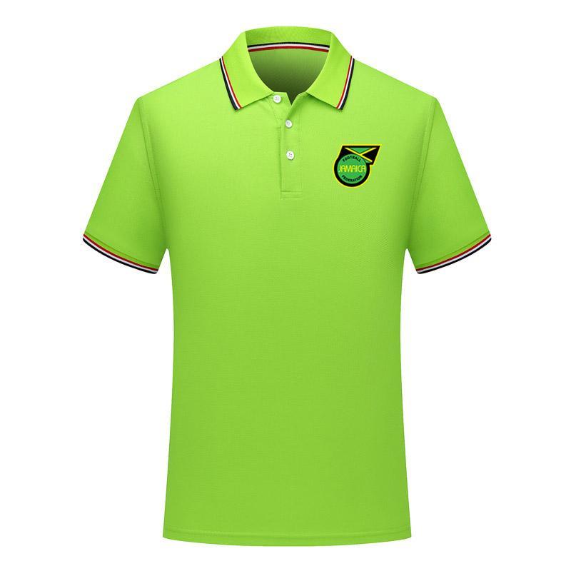 erkekler Jamaika Milli Takım Futbol Polo gömlek Futbol kısa kollu polo gömlek yaz moda eğitim Polo Gömlekler futbol forması erkek Polos